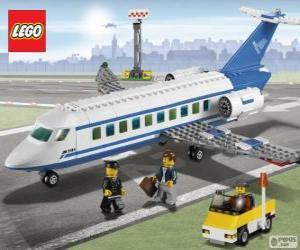 Lego passenger airplane puzzle