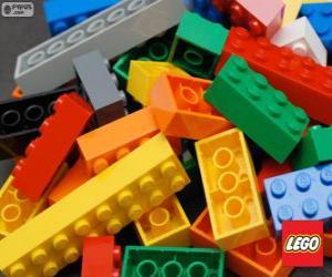 Lego pieces puzzle