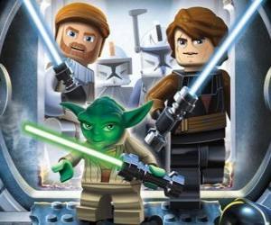 Lego Star Wars: Yoda, Luke Skywalker, Obi-Wan Kenobi puzzle