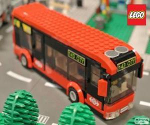 Lego urban bus puzzle