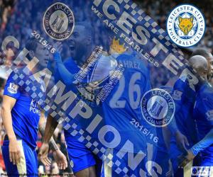 Leicester City, champion 2015-2016 puzzle