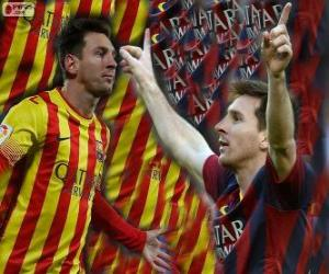 Leo Messi, top scorer in the history of FC Barcelona puzzle