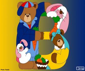 Letter B bear puzzle