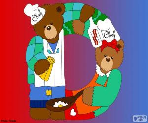 Letter D of bears puzzle