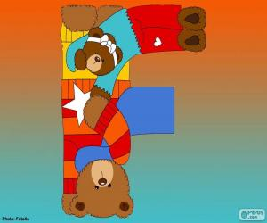 Letter F of bears puzzle