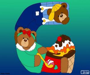 Letter G of bears puzzle