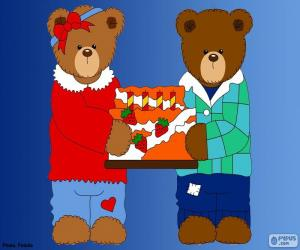 Letter H of bears puzzle