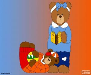Letter J of bears puzzle