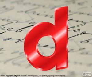 Letter lowercase d puzzle