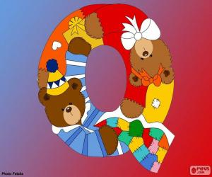 Letter Q of bears puzzle