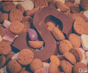 Letter S of chocolate puzzle