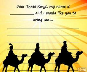 Letter to the three kings puzzle