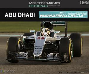 Lewis Hamilton, 2016 Abu Dhabi GP puzzle