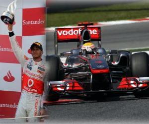 Lewis Hamilton - McLaren - Barcelona, Spain Grand Prix (2011) (2nd place) puzzle