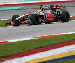 Lewis Hamilton - McLaren - Malaysian Grand Prix (2012) (3rd position) puzzle