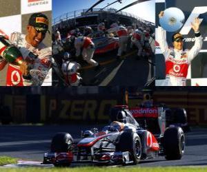 Lewis Hamilton - McLaren - Melbourne, Australia Grand Prix (2011) (2nd place) puzzle