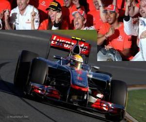 Lewis Hamilton - McLaren - Melbourne, Grand Prize of Australia (2012) (3rd position) puzzle