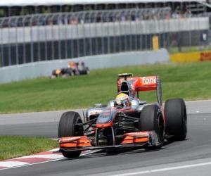 Lewis Hamilton - McLaren - Montreal 2010 puzzle