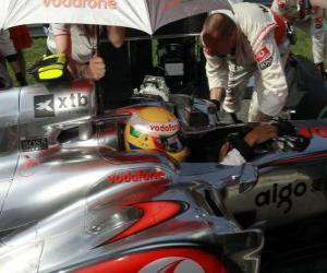 Lewis Hamilton - McLaren - Monza 2010 puzzle