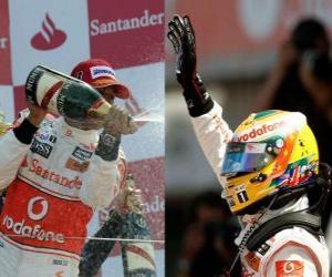 Lewis Hamilton - McLaren - Silverstone 2010 (2nd place) puzzle