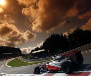 Lewis Hamilton - McLaren - Spa-Francorchamps 2010 puzzle