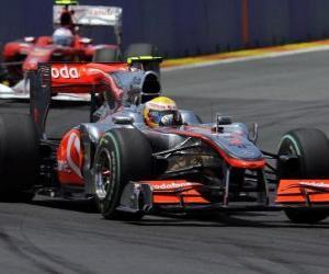Lewis Hamilton - McLaren - Valencia 2010 puzzle