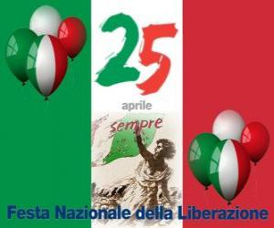 Liberation Day, Italian national holiday celebrated on April 25 puzzle