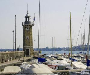 Lighthouse in Desenzano del Garda, Italy puzzle