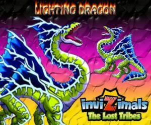 Lightning Dragon. Invizimals The Lost Tribes. This dragon invizimal dominates the power of lightning and thunder puzzle