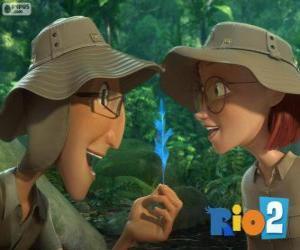 Linda and Tulio, Rio 2 puzzle