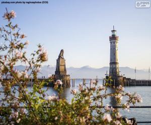 Lindau Lighthouse, Germany puzzle