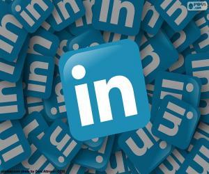 LinkedIn logo puzzle