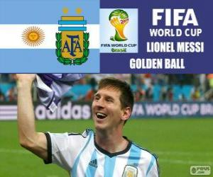 Lionel Messi, Golden Ball. Brazil 2014 Football World Cup puzzle