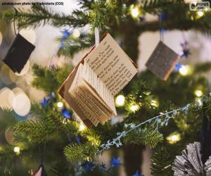 Little Christmas embellishment books puzzle
