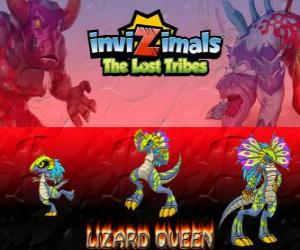 Lizard Queen, latest evolution. Invizimals The Lost Tribes. The Queen of reptiles is beautiful and wise puzzle