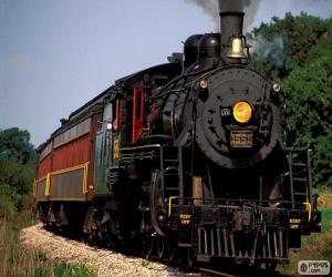 Locomotive of a steam train puzzle