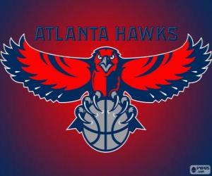 Logo Atlanta Hawks, NBA team. Southeast Division, Eastern Conference puzzle
