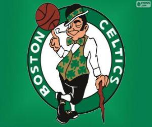 Logo Boston Celtics, NBA team. Atlantic Division, Eastern Conference puzzle