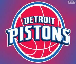 Logo Detroit Pistons, NBA team. Central Division, Eastern Conference puzzle