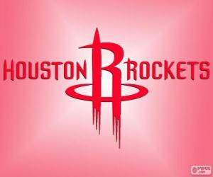 Logo Houston Rockets, NBA team. Southwest Division, Western Conference puzzle