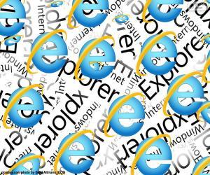 Logo Internet Explorer puzzle