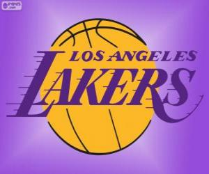 Logo Los Angeles Lakers, NBA team, Pacific Division, Western Conference puzzle