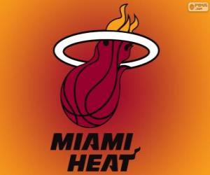 Logo Miami Heat, NBA team. Southeast Division, Eastern Conference puzzle