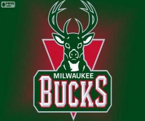 Logo Milwaukee Bucks, NBA team. Central Division, Eastern Conference puzzle
