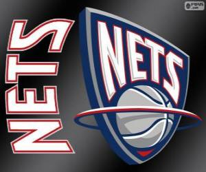 Logo New Jersey Nets, NBA team. Atlantic Division, Eastern Conference puzzle