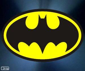 Logo of Batman, the bat puzzle