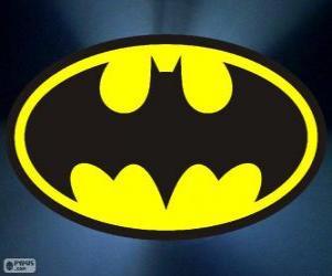 Logo of Batman, the bat puzzle