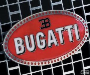 Logo of Bugatti, French brand of Italian origin puzzle