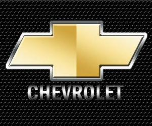 Logo of Chevrolet, American automotive brand puzzle