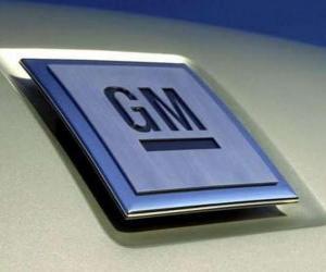 Logo of GM or General Motors. Car Brand U.S.A puzzle